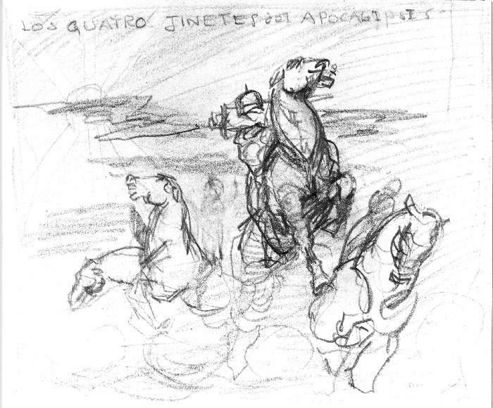 Sketch by Rex Ingram for The Four Horsemen of the Apocalypse