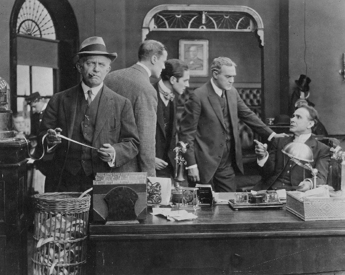 Rex Ingram (third from left) in The Ironmaster (1913)