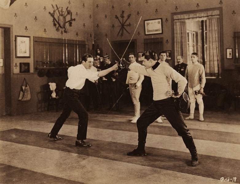 Rex Ingram and Ramon Novarro fencing