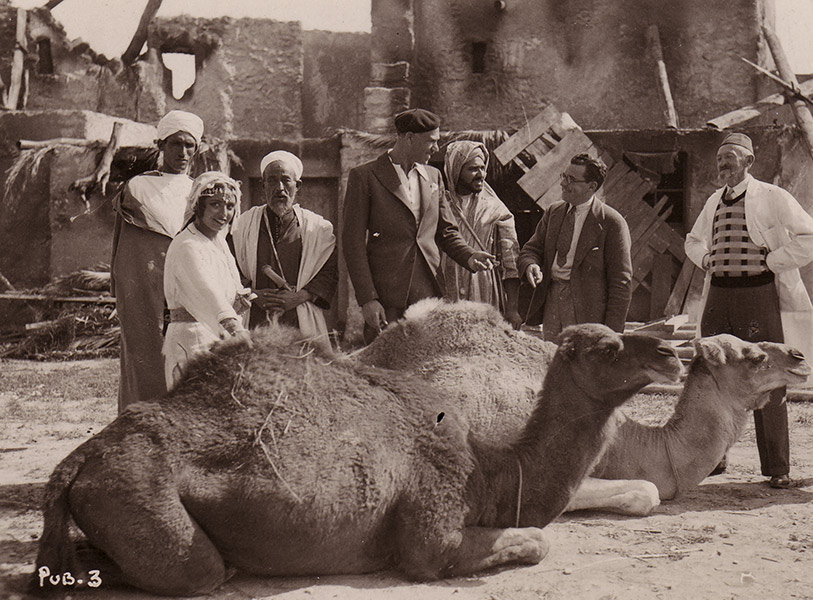 10. on the set of The Arab