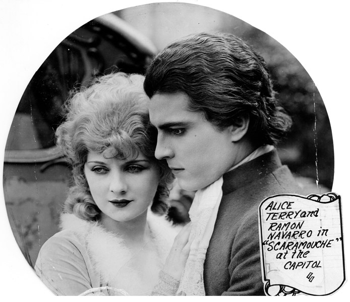 Alice Terry and Ramon Novarro in Scaramouche, courtesy of Bill Grantham