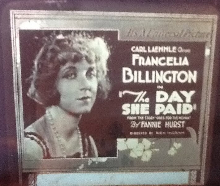 The Day She Paid (1919), magic lantern slide, courtesy of Bill Grantham