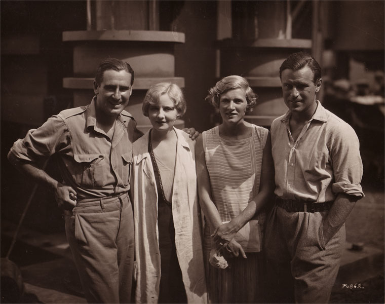 On set of Three Passions Rex Ingram Alice Terry Gladys Cooper Sir Neville Pearson Nice 1928