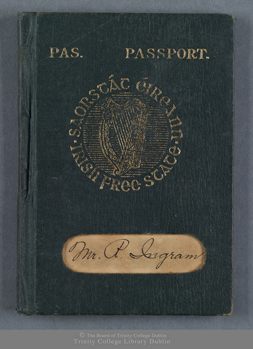 Front of passport