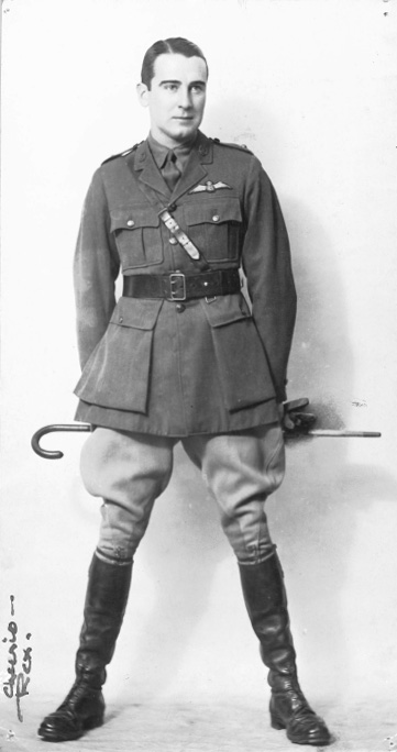 in the uniform of the Royal Canadian Flying Corps, World War 1