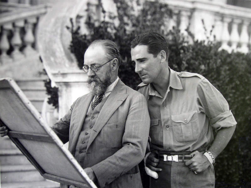 with the painter, Matisse, in the South of France